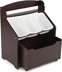 Ashley Furniture Kids Espresso Three-Tier Storage Organizer with Rolling Toy Box, Espresso