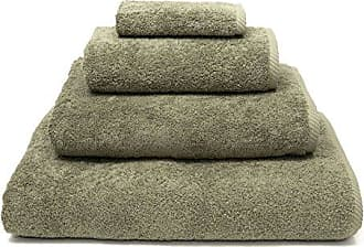 Linum Home Textiles 4 Piece Soft Twist Premium Authentic Soft 100% Turkish Cotton Luxury Hotel Collection Towel Set, Light Olive