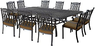 Oakland Living Outdoor Oakland Living Morocco Aluminum 11 Piece Patio Dining Set with Sunbrella Cushions Brown - 7217T-7215C8-7216S2-D54-21-AB