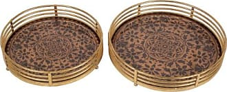 Privilege International Colored Glass Tray - Set of 2