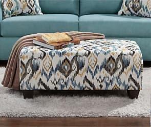 Round Hill Furniture Aruca Morph Capri Microfiber Cocktail Ottoman - LAF9005SC