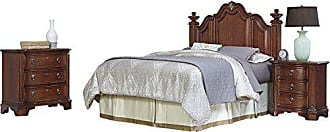 Home Styles 5575-5016 Santiago Headboard Night Stand and Chest, Queen/Full, Brown