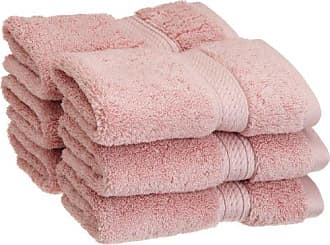 Home City Inc. Superior 900 GSM Luxury Bathroom Face Towels, Made of 100% Premium Long-Staple Combed Cotton, Set of 6 Hotel & Spa Quality Washcloths - Tea Rose, 13 x 13 each
