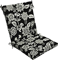 Overstock Arden Selections Ashland Jacobean Outdoor Chair Cushion (Black - Hand Wash - Polyester)