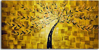 Omax Decor OMAX Textured Tree Oil Painting on Canvas - 48W x 24H in. - M 3090