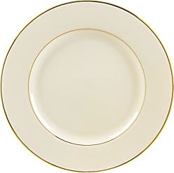 10 Strawberry Street Cream Double Gold Line 12.25 Charger/Buffet Plate, Set of 6, Cream/Gold