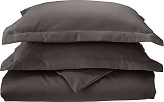 Superior 1000 Thread Count 100% Cotton, Single Ply, 3-Piece King/California King Duvet Cover Set, Solid, Charcoal