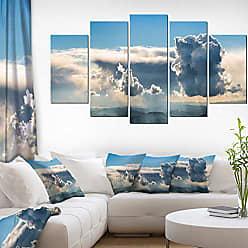 DESIGN ART Designart PT11539-373 Heavy Clouds in Sky Panoramic View-Landscape Art Canvas Print-60x32 5 Piece, 60x32-5 Panels Diamond Shape