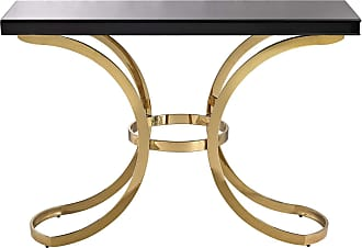 Dimond Home Beacon Towers Console Table In Gold Plate And Black Glass