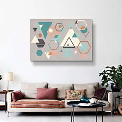 Brushstone Abstract Geo I Gray by Veronique Charron Gallery Wrapped Canvas, Size: 36x54 - 2CHA105C3654W