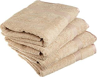 Home City Inc. Superior 100% Long Staple Combed Cotton Bath Towel Set, 4 Piece, Taupe