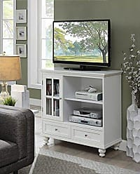 Convenience Concepts 8067000W Tahoe Tv Stand White
