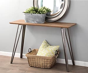 LumiSource Sedona Industrial Console Table Dark Brown - TBC-SDNA AN+DBN