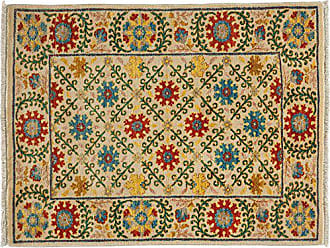 Solo Rugs Suzani Hand Knotted Area Rug 3 2 x 4 1 Ivory