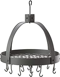 Old Dutch International Dome Pot Rack with 16 Hooks, Graphite, 20 x 15.25 x 21