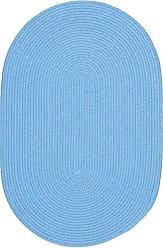Rhody Rug Fun Braids Solid Aqua Blue 10X13 Oval