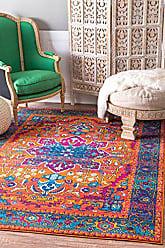nuLOOM RZBD57A Persian Fancy Velva Area Rug, 4 x 6, Orange