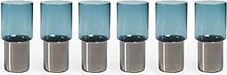Zodax Como Glasses Highball Glass, Midnight Blue (Set of 6)