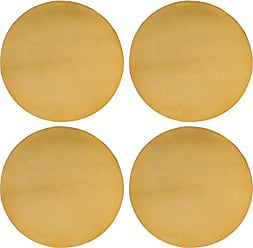 Thirstystone NCH032 Gold Finish Old Hollywood Round Metal Coasters (Set of 4), Multicolor