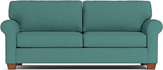 Apt2B Lafayette Queen Size Sleeper Sofa - Leg Finish: Pecan - Sleeper Option: Deluxe Innerspring Mattress - Teal Poly Blend - Sold by Apt2B - Modern Co