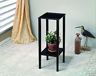 Coaster Home Furnishings Plant Stand with Bottom Shelf Espresso