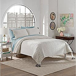 Ellery Homestyles Marble Hill 15788BEDDQUEWHI Nadia 92-inch by 96-Inch 3-Piece Queen Quilt Set, White