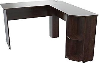 Inval America Inval ET-4115 Corner Desks, Espresso-Wengue