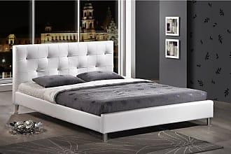 Baxton Studio Barbara Crystal Button Upholstered Platform Bed Black, Size: Queen - BBT6140-BLACK-BED