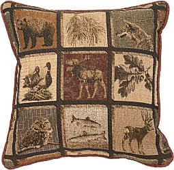 Wooded River Silver Thicket Square Decorative Throw Pillow - WD25370