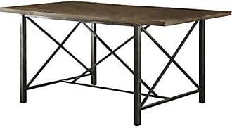 Homelegance 5512-66 Sage Metal Dining Table with X-Base Legs, Black
