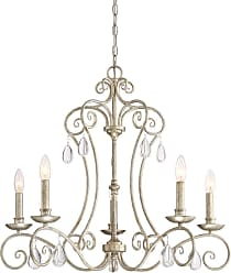 Quoizel Chantelle 28 5-Light Chandelier in Vintage Gold