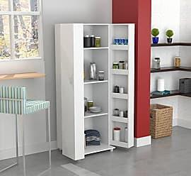 Inval America AL-2113 2 Door Storage Cabinet, Laricina White