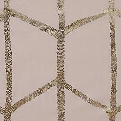 INTELLIGENT DESIGN Raina Printed Metallic Shower Curtain Blush 72x72
