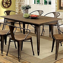 FURNITURE OF AMERICA 24/7 Shop at Home 247SHOPATHOME IDF-3529T-5PC Dining-Room-Sets, 5-Piece, Natural Elm