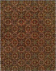 Kalaty NM-063 23 Newport Mansions Area Rug, 2 x 3, Chateau Rust