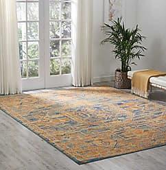 Nourison (PSN07) Passion Modern Traditional Colorful Teal/Sun Orange Area Rug, 8 x 10