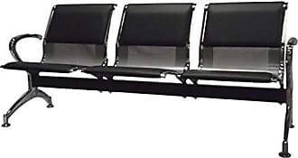 Pelegrin Cadeira Longarina Aeroporto Cromada com Estofamento 3 Lugares