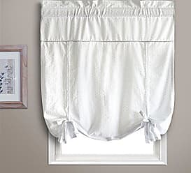 United Curtain Dorothy Window Curtain Swiss Dot Tie Up Shade, 40 by 63, White