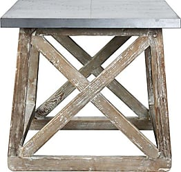 Boraam Burnham Home 17223 Martin Side Table, Natural, Zinc Top