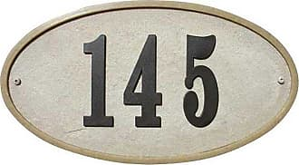 QualArc Ridgestone DIY Oval Stone Address Plaque Sandstone - RIG-4911-SS