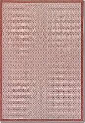 Couristan Monaco Collection Sea Pier Rug, Sand/Maroon, 9 by 12-Feet