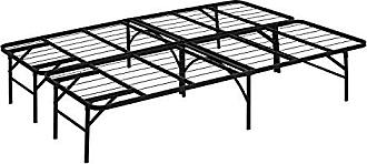 Furinno FB002F Angeland Mattress Foundation Platform Metal Bed Frame, Full