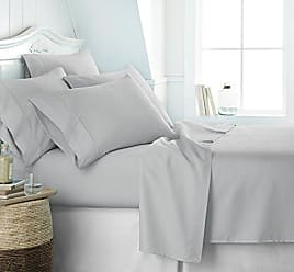 iEnjoy Home Simply Soft Ss-6Pc-Twinxl-Lgray Ultra Soft 6 Piece Bed Sheet Set, TwinXL, Light Gray