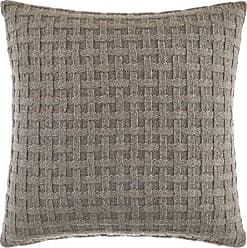 Sofa Throw Pillow 16 Inches Designart CU16512-16-16-C Brown Metal Protective Grids Abstract Round Cushion Cover for Living Room