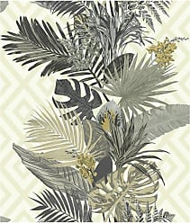 York Wallcoverings Outdoors In Tropical Oasis Stripe Wallpaper Bright Green - ON1627