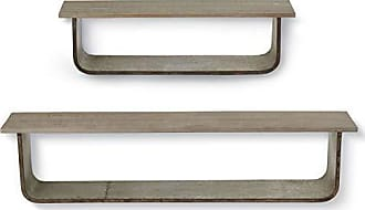 Foreside Home And Garden FFUV05361 Cherry Hill Wall Shelves, Set of 2, Multicolor