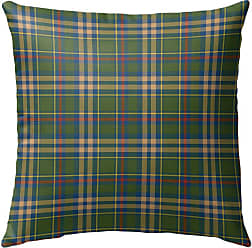 Kavka Designs Green Fall Plaid Outdoor Pillow - OPI-OP16-16X16-NOR199