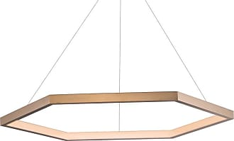 ET2 E22285 Hex 40 Wide LED Ring Chandelier Brushed Champagne Indoor