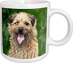 3D Rose 3dRose Border Terrier Ceramic Mug, 15-Ounce
