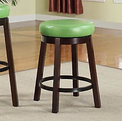 Round Hill Furniture Wooden Swivel Barstools, Counter Height, Lime Green, Set of 2